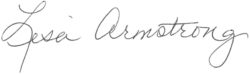 Lisa Armstrong Signature
